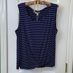 Max studio sleeveless shirt with stripes